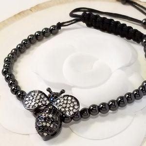 NEW Pave CZ Bumble Bee Bracelet
